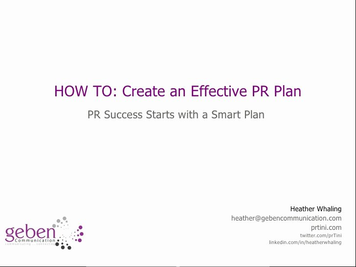 How to Start Creating A Pr Plan