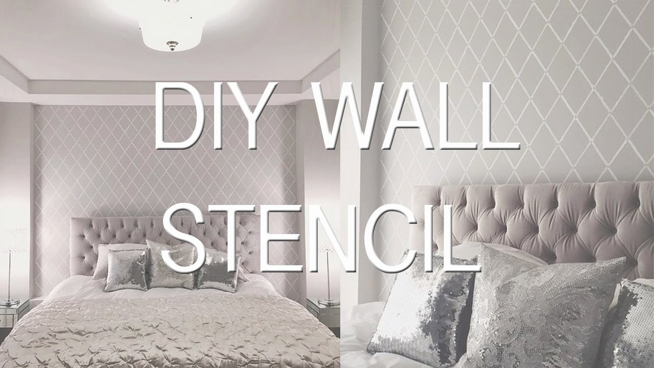 How to Stencil Paint A Wall