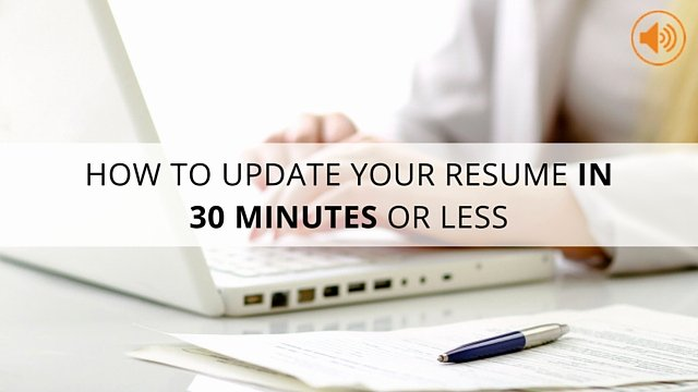 How to Update Your Resume In 30 Minutes or Less