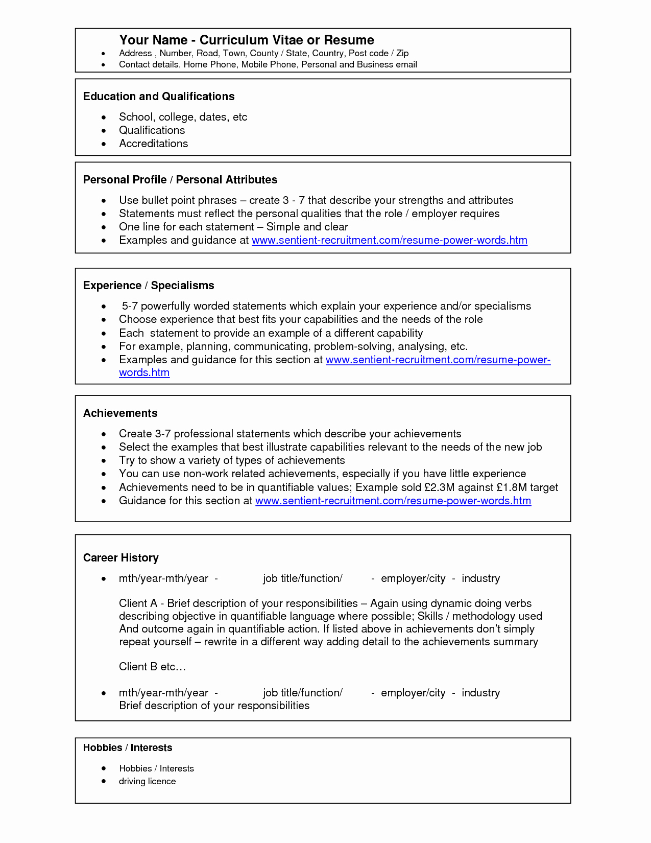 How to Use Resume Template In Word 2010 Free Printable