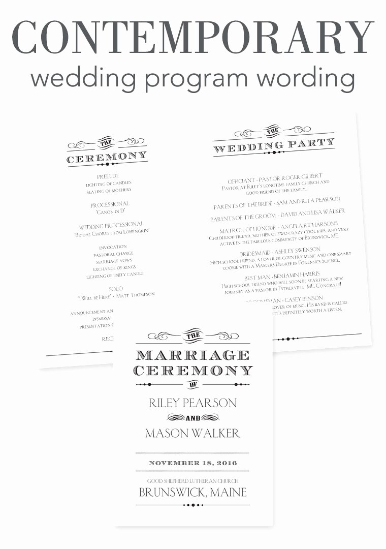 How to Word Your Wedding Programs