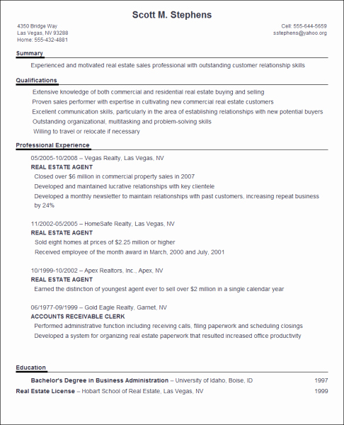 How to Wright A Resume