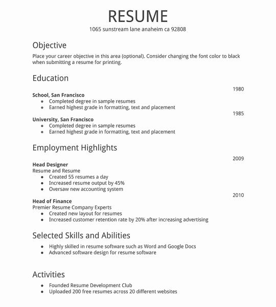 How to Write A Basic Resume F Resume