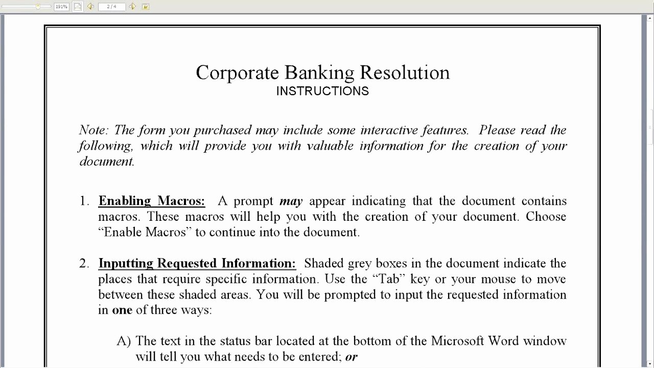 How to Write A Board Resolution to Open A Bank Account