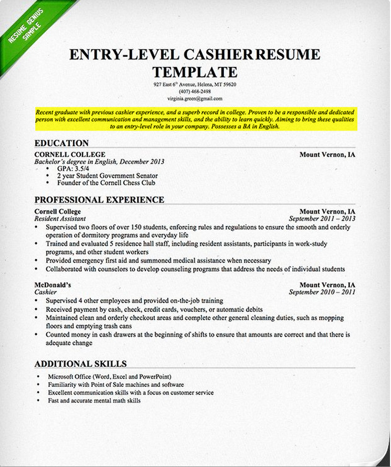 How to Write A Career Objective A Resume