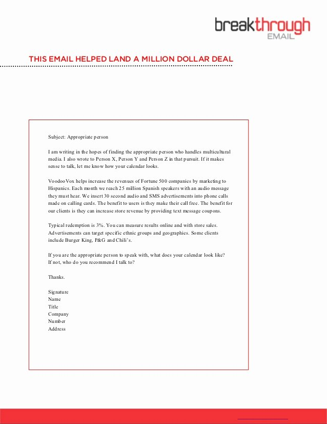 How to Write A Cold Email Template