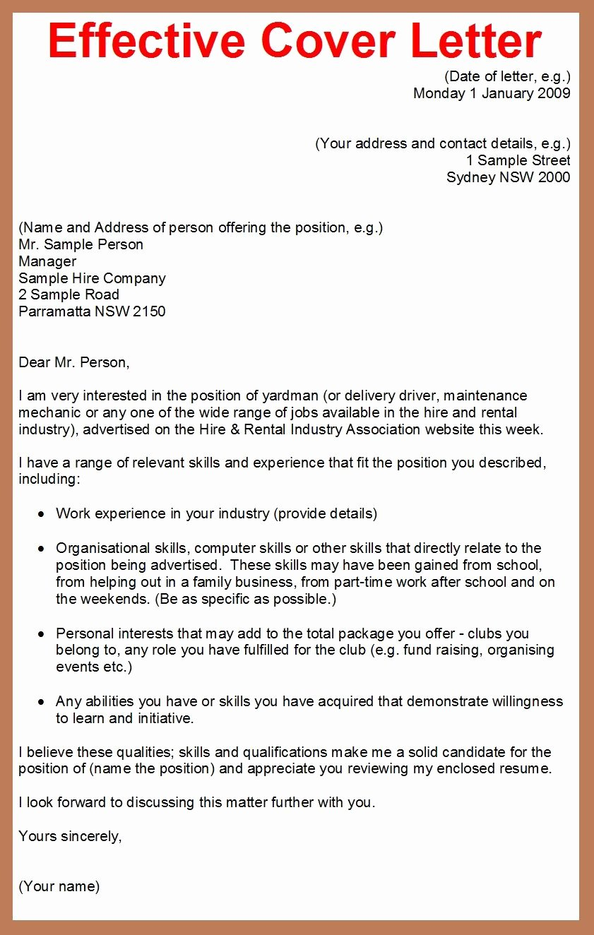 How to Write A Cover Letter for A Job Application Google