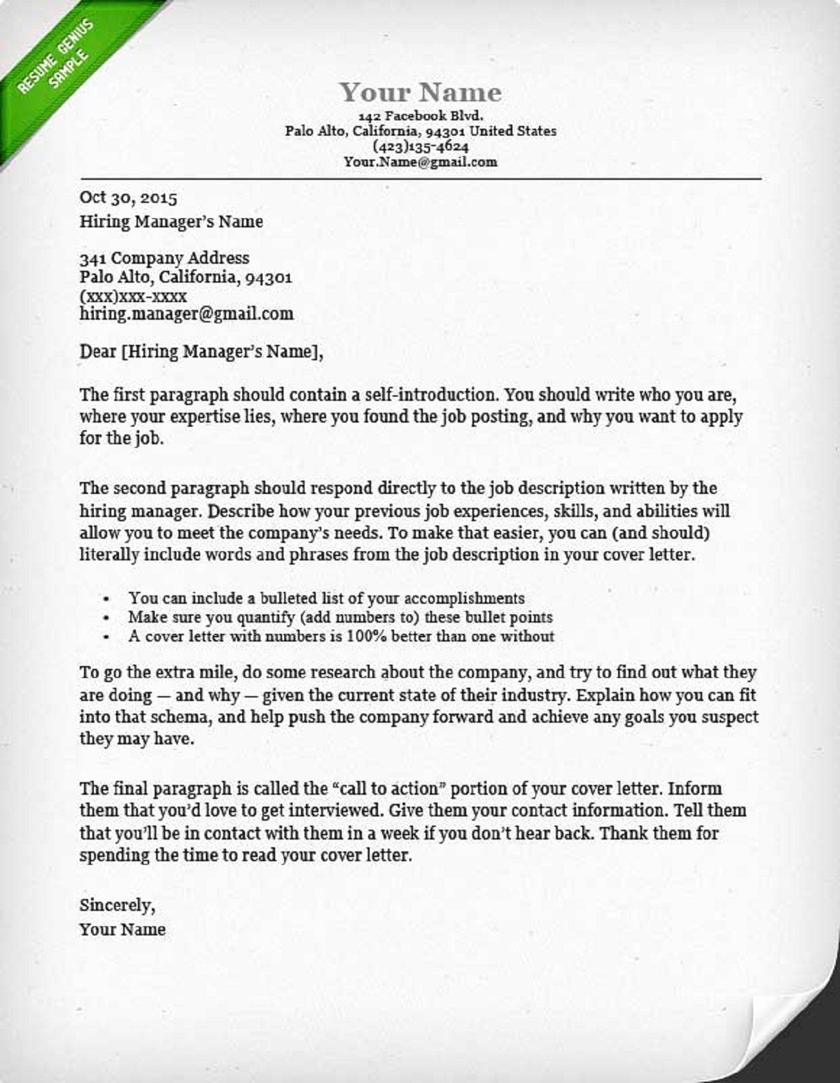 How to Write A Cover Letter Guide with Sample