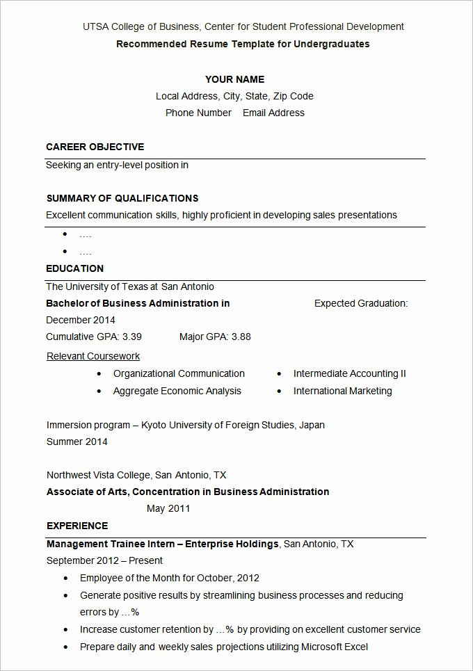 How to Write A Cv for Admission In A University