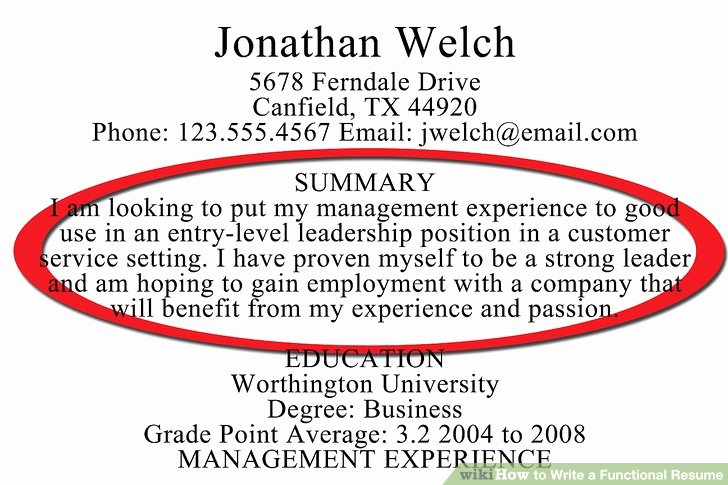 How to Write A Functional Resume with Sample Resumes
