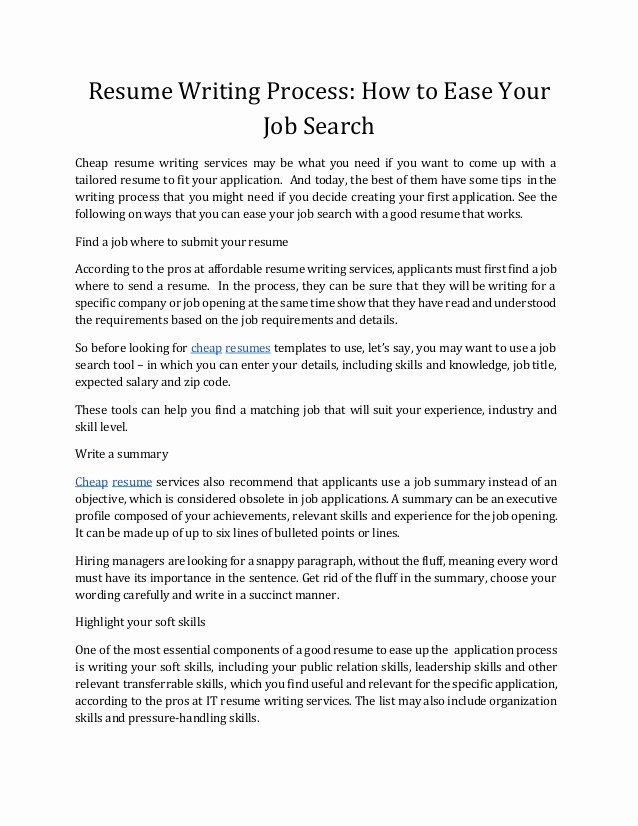How to Write A Good Resume that Get Noticed