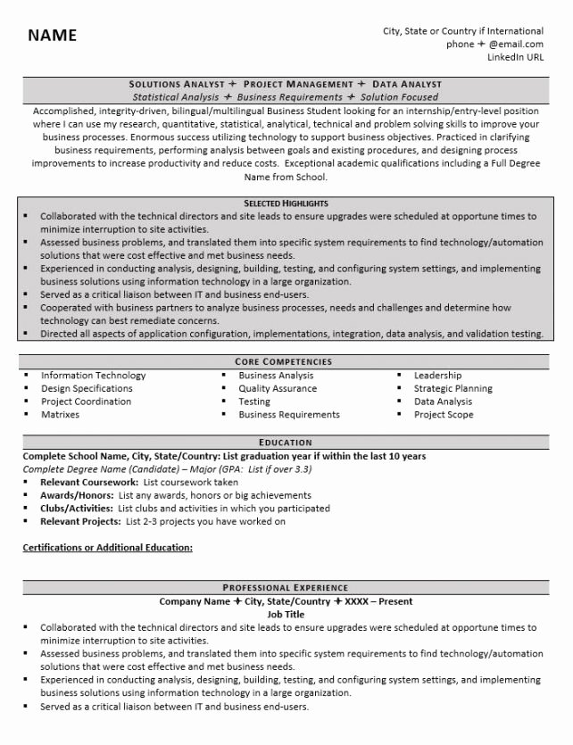 How to Write A Graduate School Resume