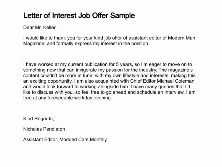 How to Write A Letter Of Interest for A Job
