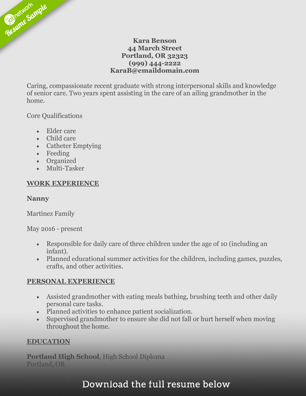 write perfect home health aide resume