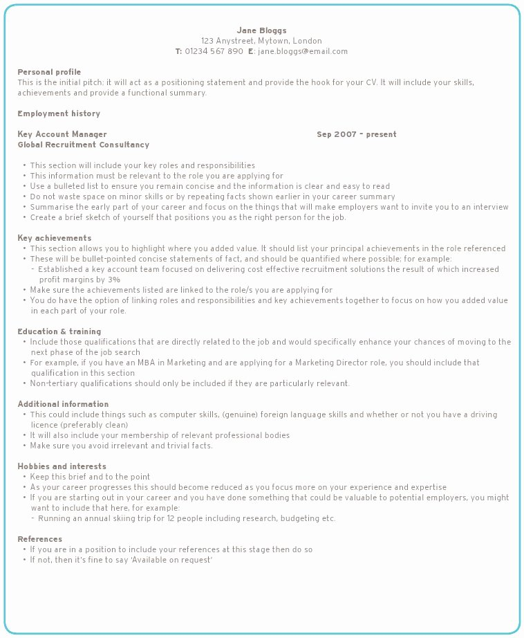 How to Write A Resume Best Template Collection