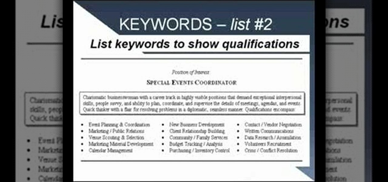 How to Write A Resume Using Strong Language and Keywords