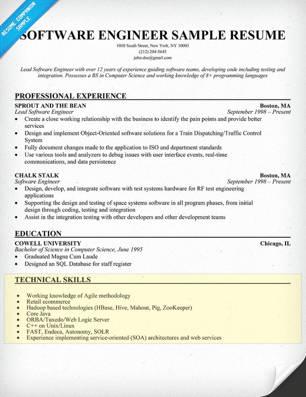 How to Write A Skills Section for A Resume Resume Panion