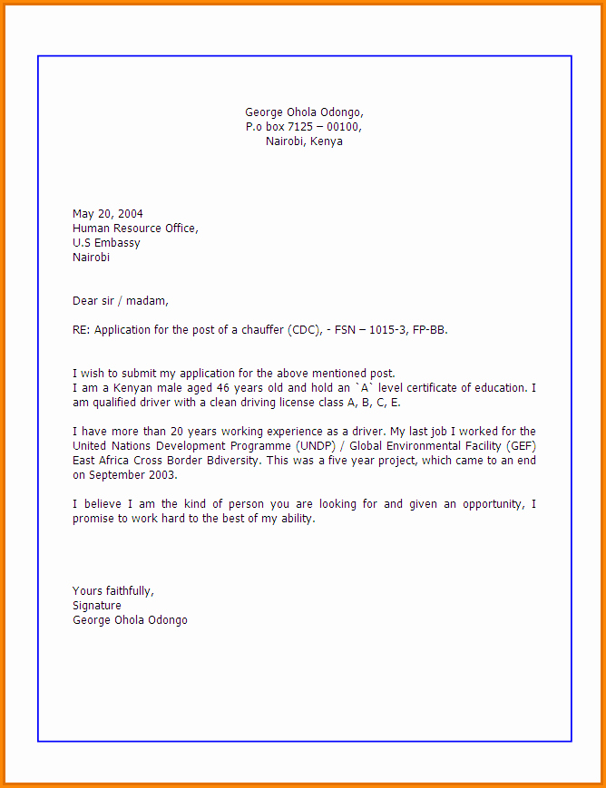 How to Write An Application Letter for the Post A
