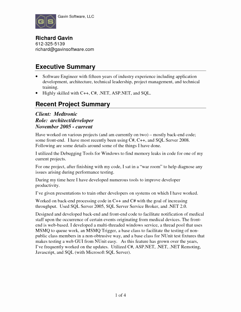 How to Write An Executive Summary for A Resume