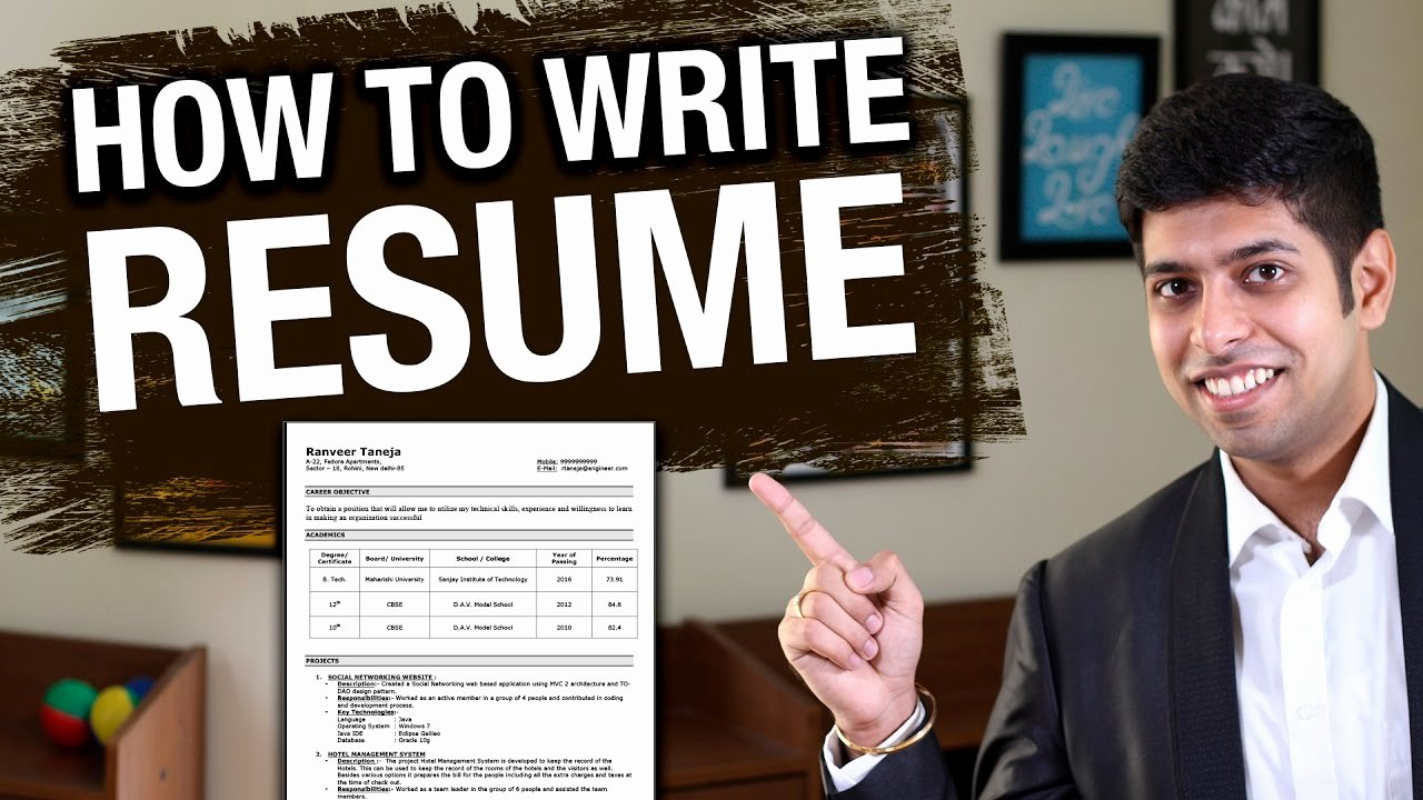 How to Write Resume Effectively Job Interview Tips In