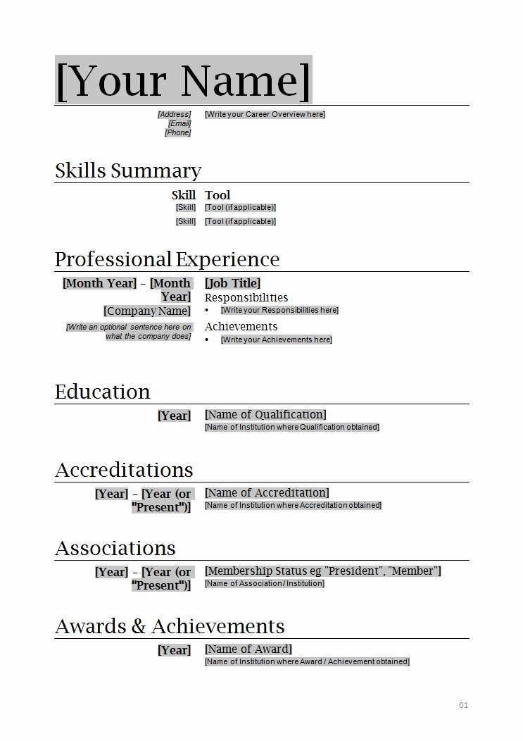 How to Write Resume format