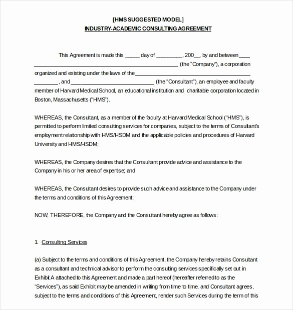 Hr Agreement Templates 5 Free Sample Example format