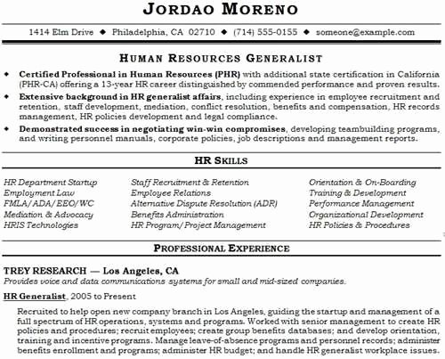 Hr Generalist Responsibilities and Achievements