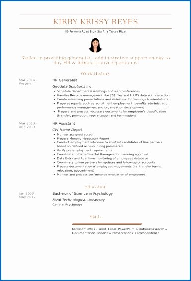 Hr Generalist Resume Samples Visualcv Resume Samples