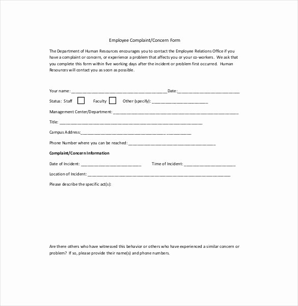 Hr Plaint Letter – 10 Free Word Pdf Documents