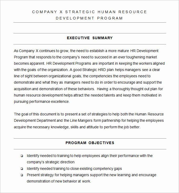 Hr Strategy Template 31 Word Pdf Documents Download