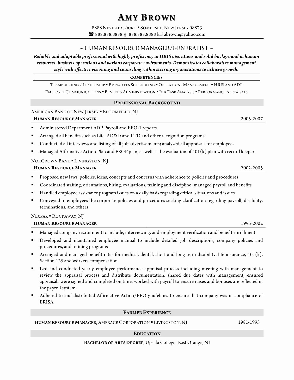 Hr thesis Examples assistant Resume Objective Samples