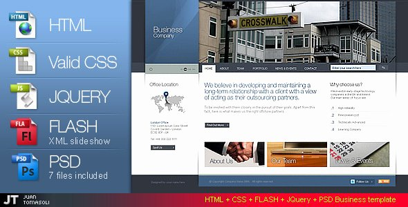 Html Css Flash Psd Business Template Version