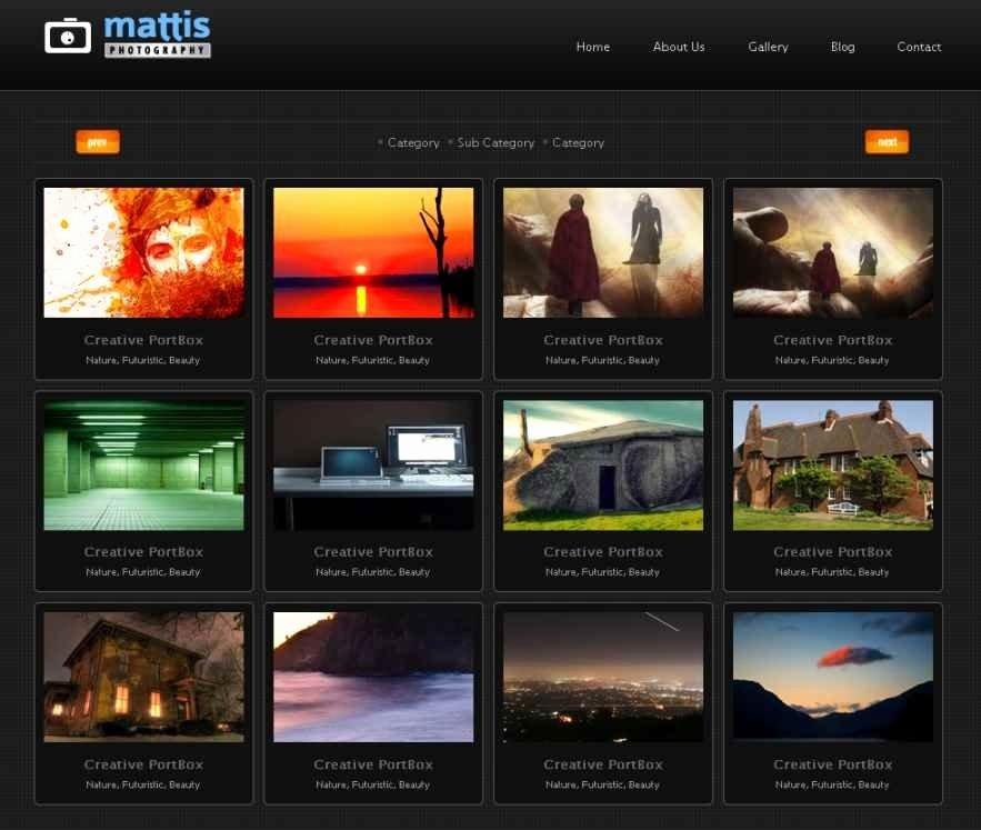 Html Gallery Template Beautiful Template Design Ideas