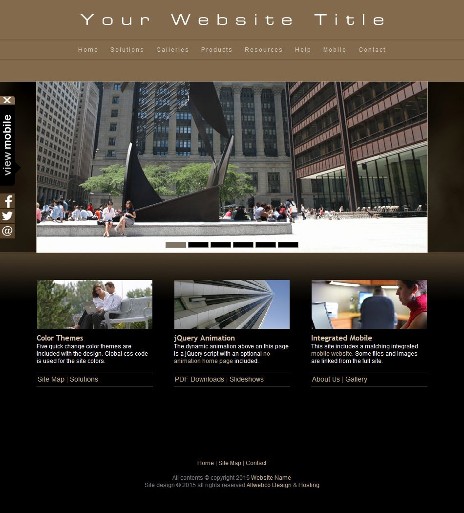 Html Web Template Plus Mobile Graphy Business with