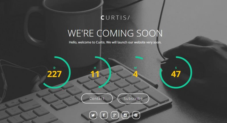 Html5 Ing soon Page Templates & themes