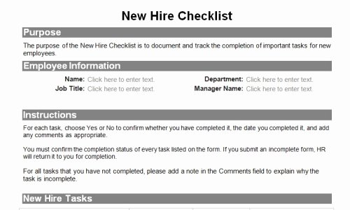 Human Resource forms for the Entire Employee Lifecycle