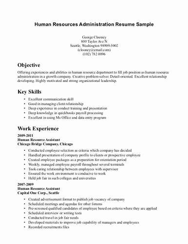 Human Resource Generalist Resume Example source