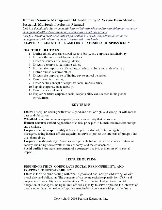 Human Resource Manual Template Employee Handbook Word