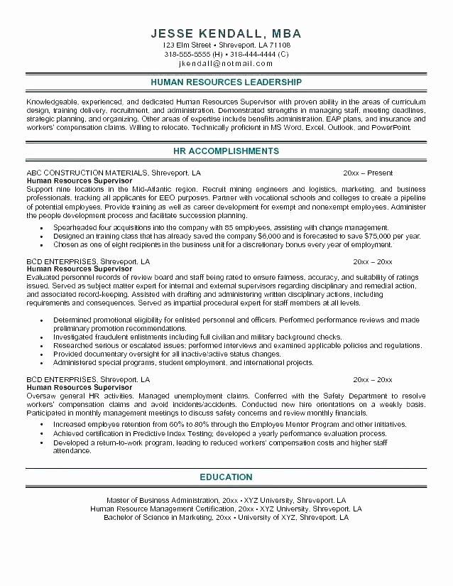Human Resource Sample Resume – Digiart