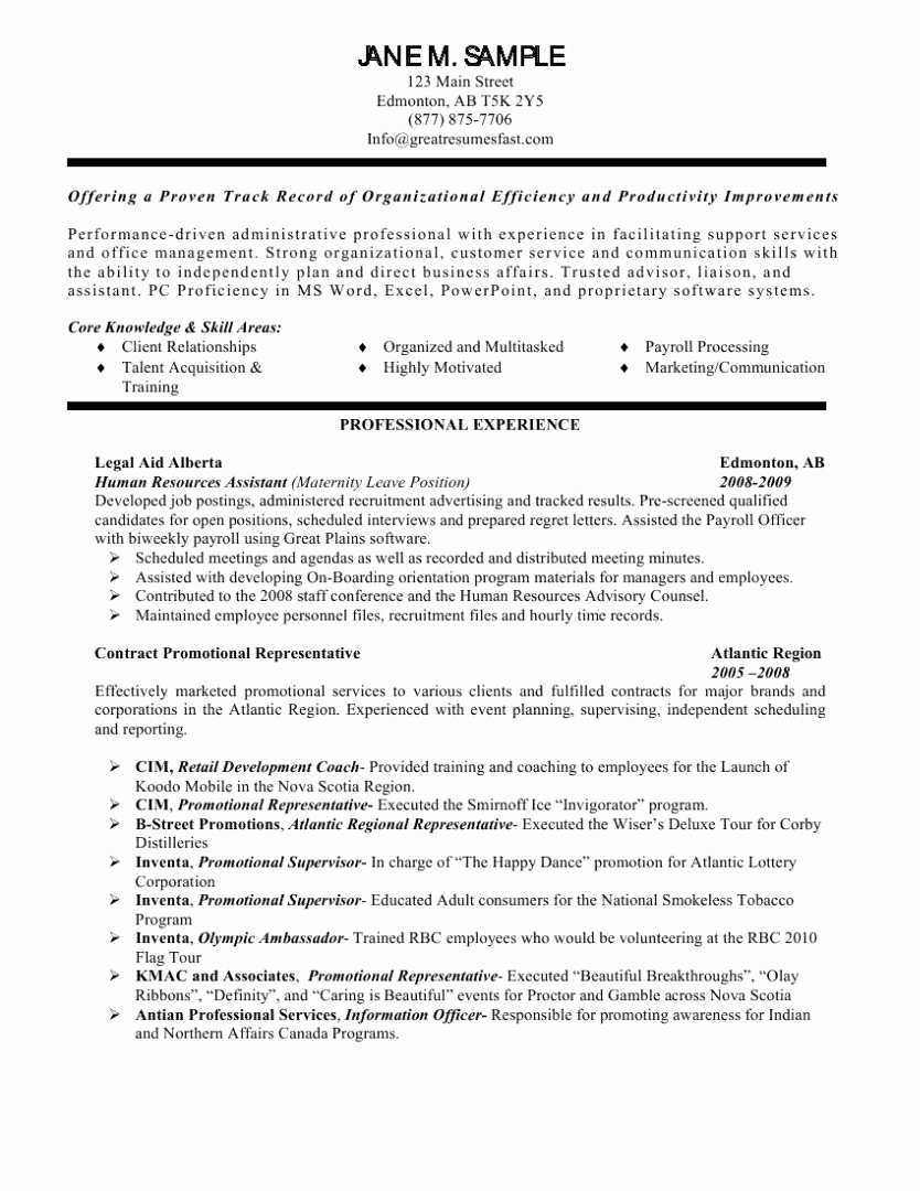 Human Resources assistant Resume Samples – Perfect Resume