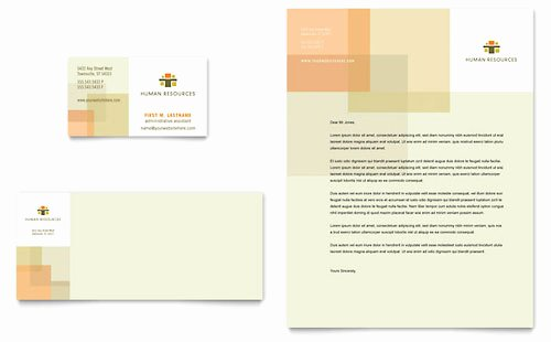 Human Resources Business Card Templates Word & Publisher