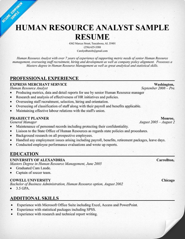 Human Resources Manager Resume