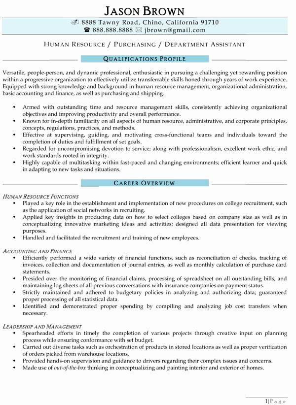 Resume Sample 20 Human Resources Executive Resume Latter Example