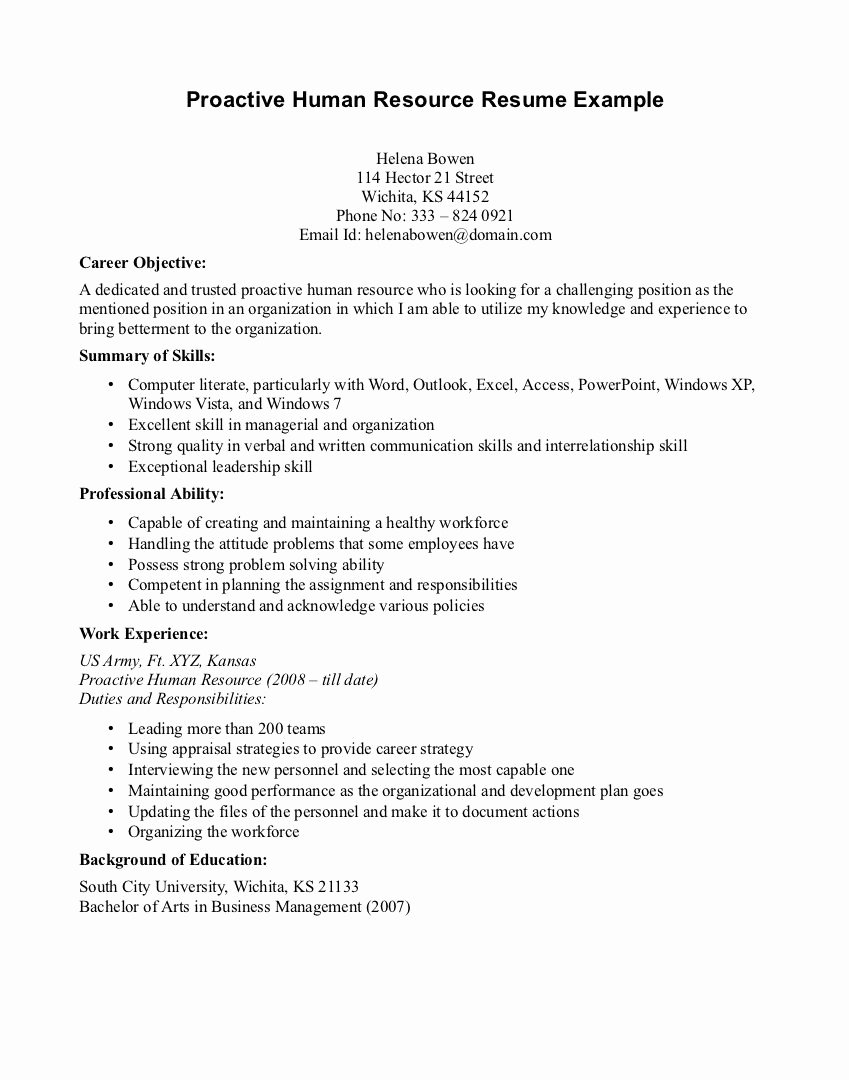 Human Services Resume Templates