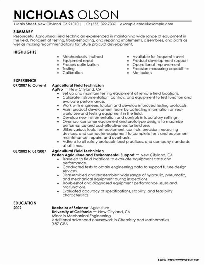 Hvac Service Technician Resume Templates Resume Resume