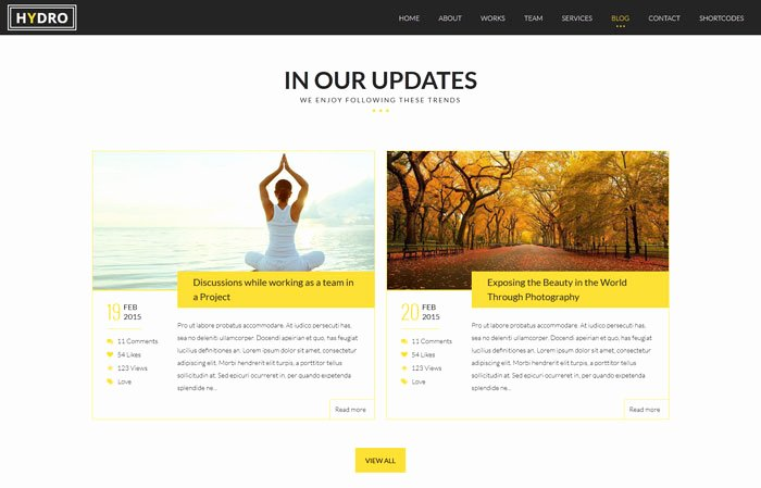 Hydro Multipurpose One Page HTML5 Template