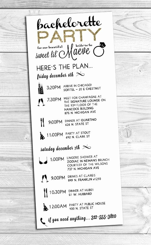 I Created This Custom Bachelorette Party Itinerary for A