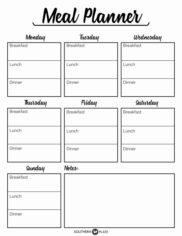 I M Happy to Offer You This Free Printable Meal Planner