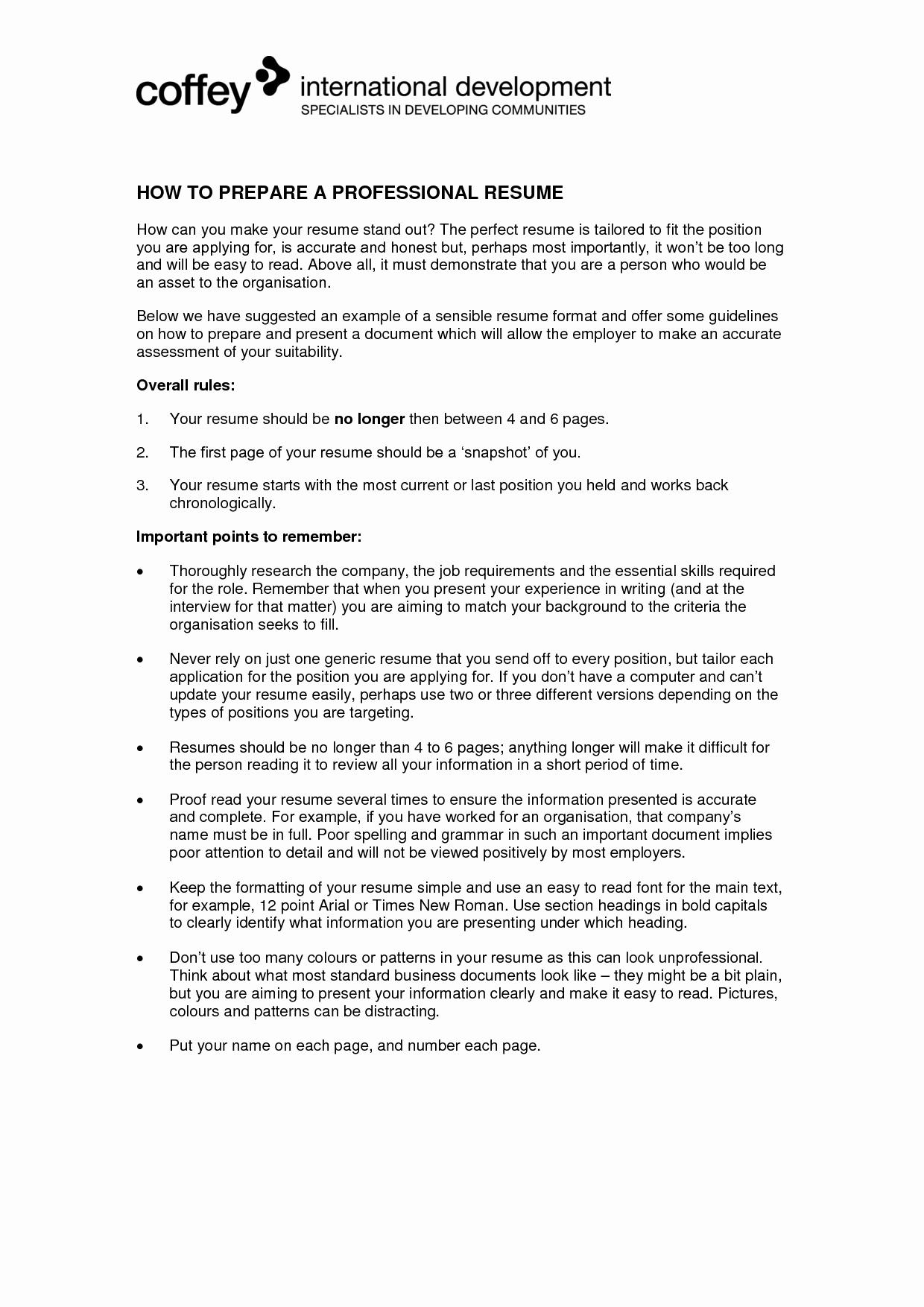 I Need Help Creating My Resume