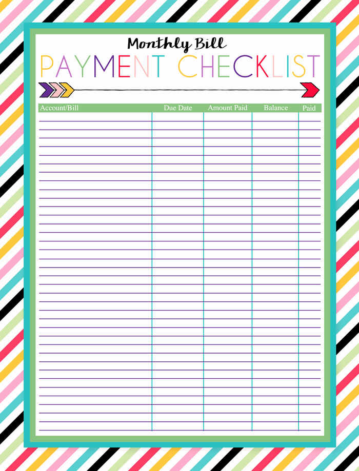 I Should Be Mopping the Floor Free Printable Monthly Bill